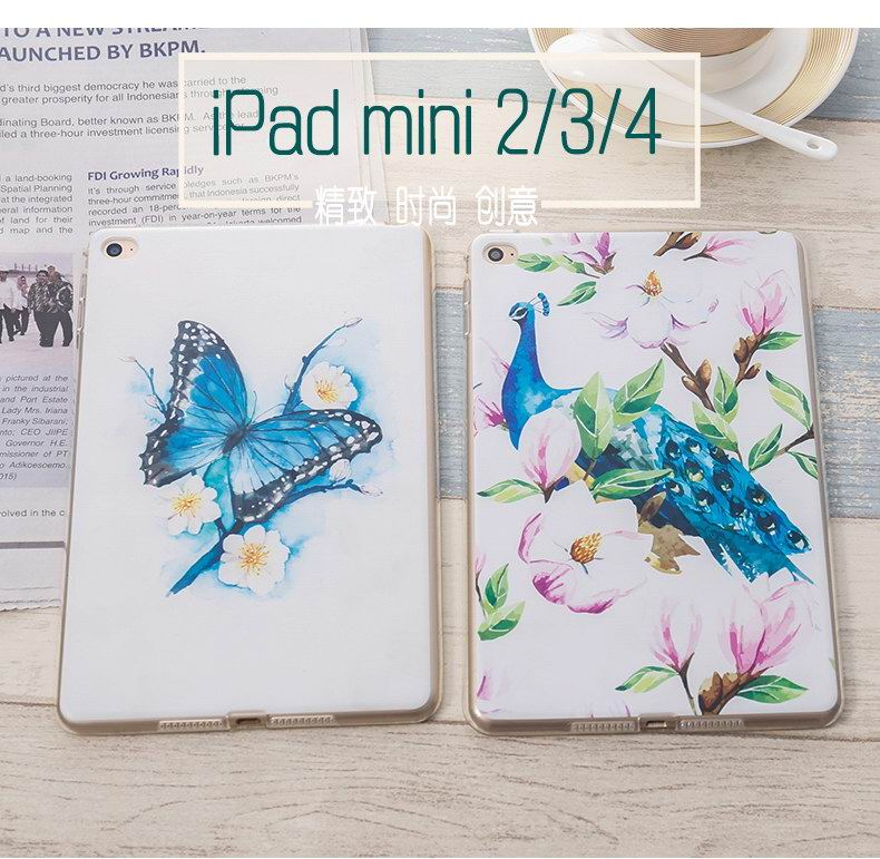 iPad Protective cover with birds & flowers for Apple iPad Mini 1, iPad Mini 2, iPad Mini 3, iPad Mini 4