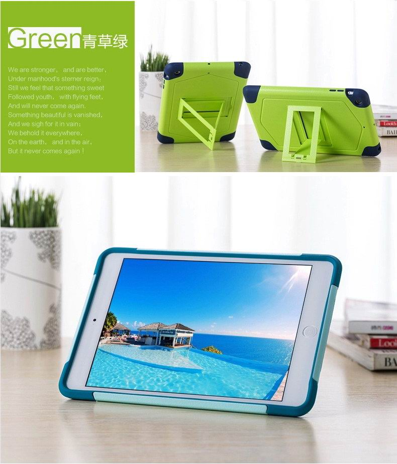 iPad protective cover with stand for Apple iPad Mini 1, iPad Mini 2, iPad Mini 3