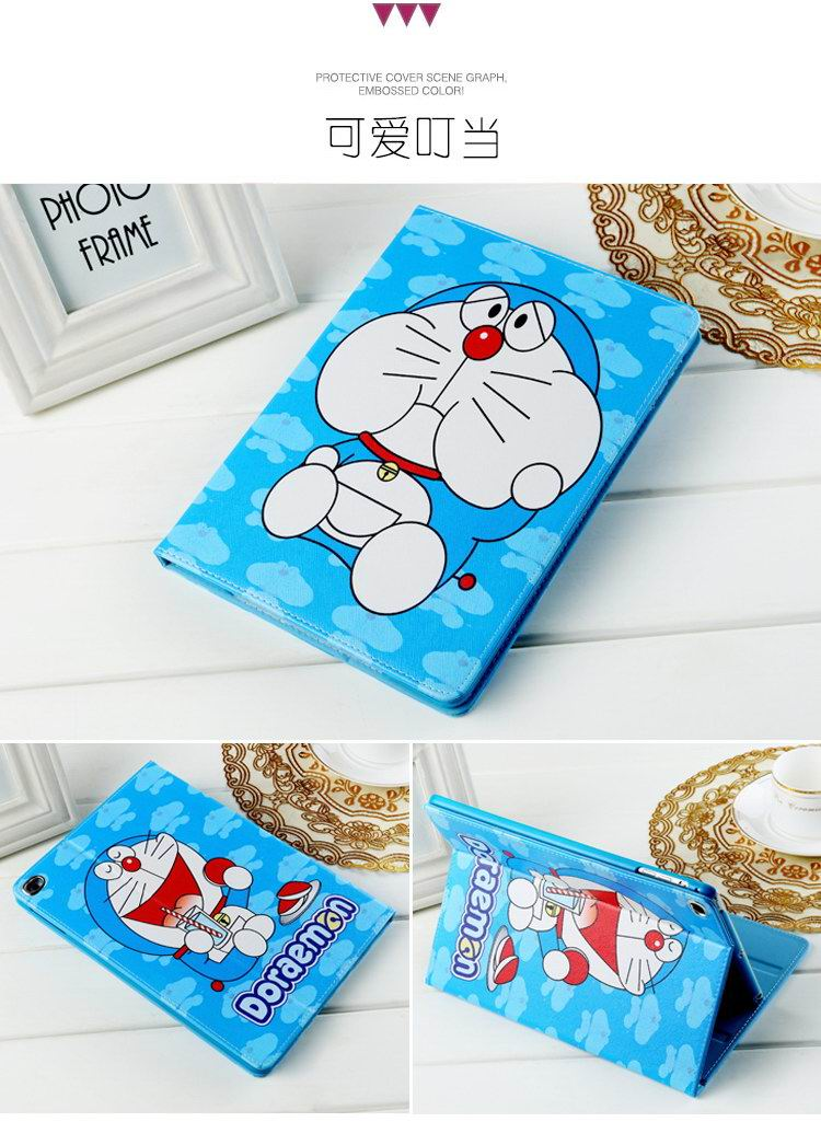 iPad Protective Cute cartoon case with Doraemon for Apple iPad Mini 1, iPad Mini 2, iPad Mini 3, iPad Mini 4, Apple iPad 2, iPad 3, iPad 4, Apple iPad Air 1, iPad Air 2