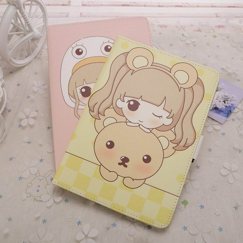 iPad Protective cute case with a girl for Apple iPad Air 1, iPad Air 2, Apple iPad 2, iPad 3, iPad 4, Apple iPad Mini 1, iPad Mini 2, iPad Mini 3, iPad Mini 4, Apple iPad Pro 9.7 inch