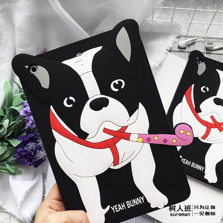 iPad Protective Cute silicone cover with a dog for Apple iPad Mini 1, iPad Mini 2, iPad Mini 3, iPad Mini 4, Apple iPad 2, iPad 3, iPad 4, Apple iPad Air 1, iPad Air 2