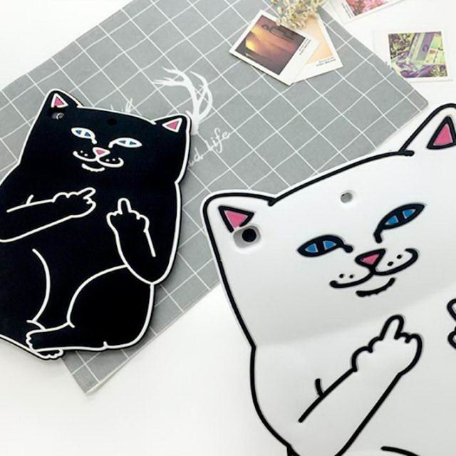 iPad protective Silicone cover with fucking cat for Apple iPad Mini 1, iPad Mini 2, iPad Mini 3, iPad Mini 4