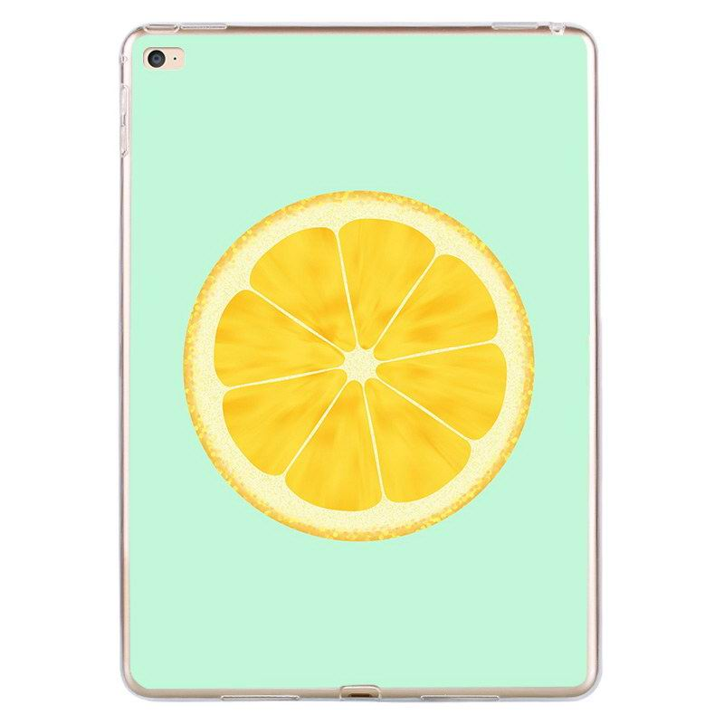 iPad Protective Silicone cover with lemon fruit for Apple iPad Mini 1, iPad Mini 2, iPad Mini 3, iPad Mini 4, Apple iPad Air 1, iPad Air 2, Apple iPad Pro 9.7 inch