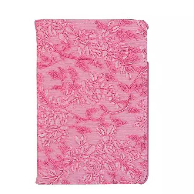 iPad rotating protective case with grape floral pattern for Apple iPad Mini 4
