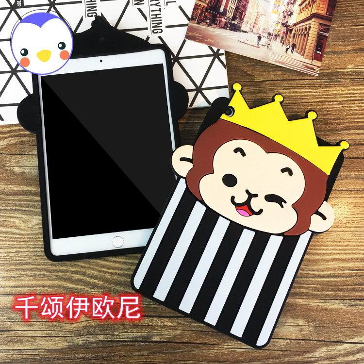 iPad Silicone protective cover with animal monkey for Apple iPad Mini 1, iPad Mini 2, iPad Mini 3, iPad Mini 4, Apple iPad 2, iPad 3, iPad 4, Apple iPad Air 1, iPad Air 2