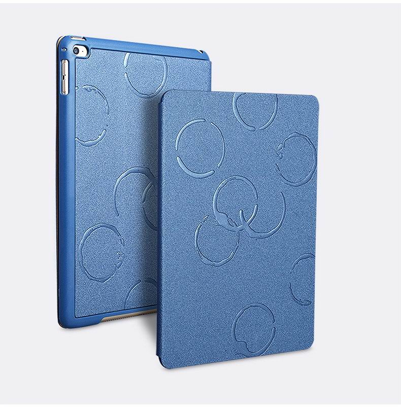 M-face case with cup circles business pattern for Apple iPad Mini 4