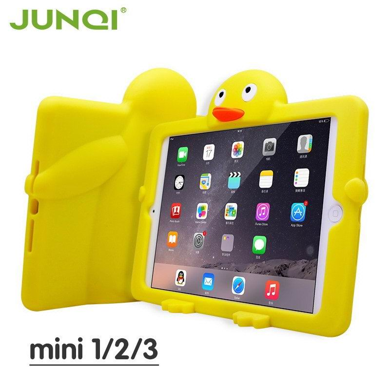 silicone cover with cartoon duck for children for apple ipad pro 97 inch apple ipad mini 1 ipad mini 2 ipad mini 3 ipad mini 4 apple ipad 2 ipad 3 ipad 4 0