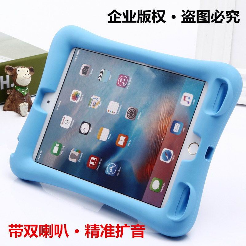 Silicone cover with stand for Apple iPad Air 1, iPad Air 2, Apple iPad 2, iPad 3, iPad 4, Apple iPad Mini 1, iPad Mini 2, iPad Mini 3, iPad Mini 4, Apple iPad Pro 9.7 inch