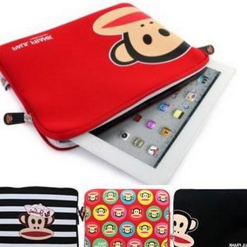 Sleeve with Cute monkey for Apple iPad Pro 9.7 inch, Apple iPad Air 1, iPad Air 2, Apple iPad Mini 1, iPad Mini 2, iPad Mini 3, iPad Mini 4, Apple iPad 2, iPad 3, iPad 4