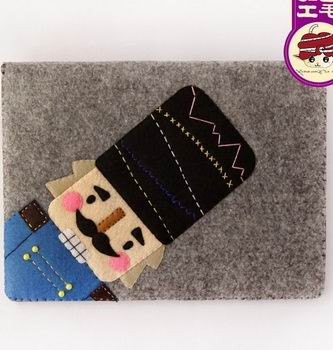 Sleeve with cute solder illustration for Apple iPad Mini 1, iPad Mini 2, iPad Mini 3
