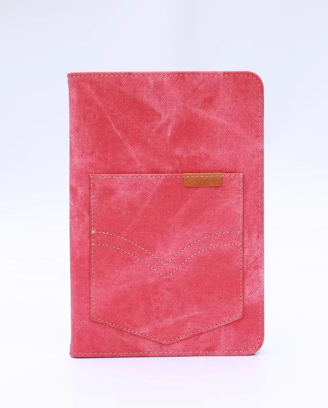 Apple iPad Air 1 business case with high-grade denim pattern and card holder pocket