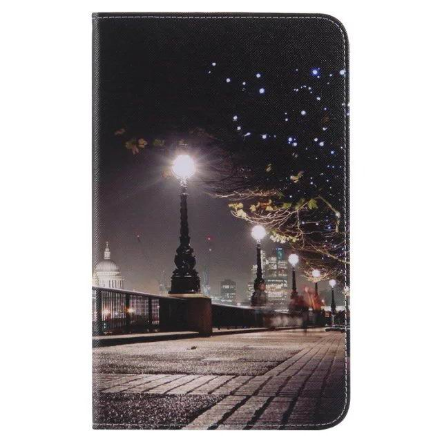 galaxy tab e 8 0 business case multi illustrations with stand and pockets 05: