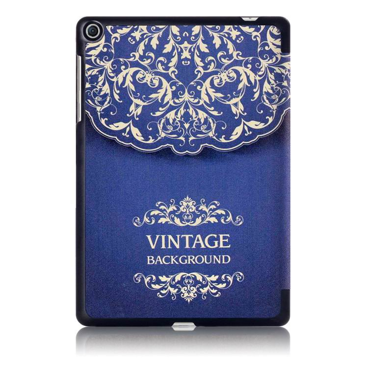 zenpad 3s business case with multi illustrations and stand European style flower vine: