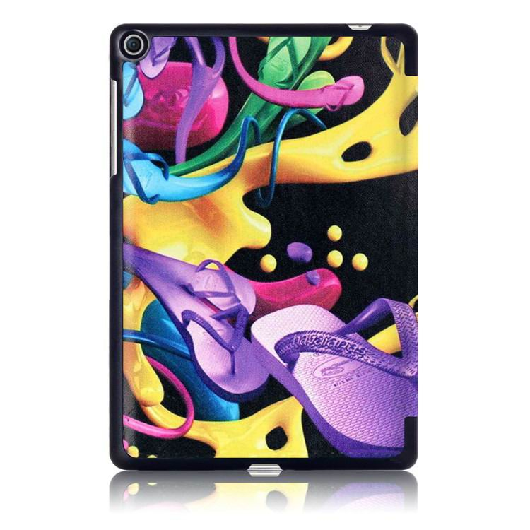 zenpad 3s business case with multi illustrations and stand Colorful shoes: