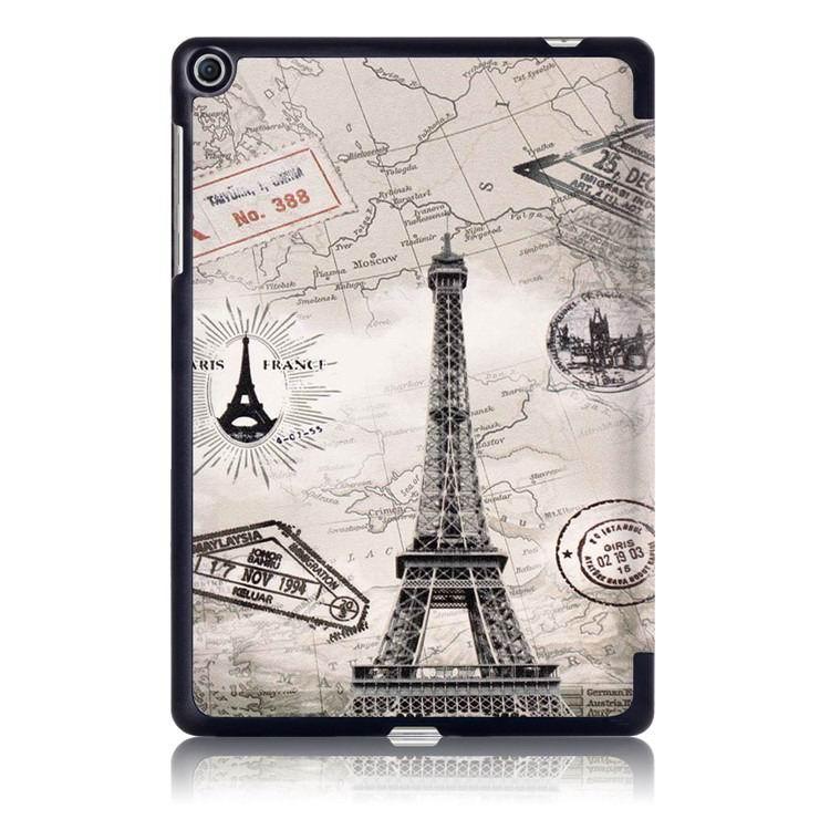 zenpad 3s business case with multi illustrations and stand Eiffel Tower in Paris: