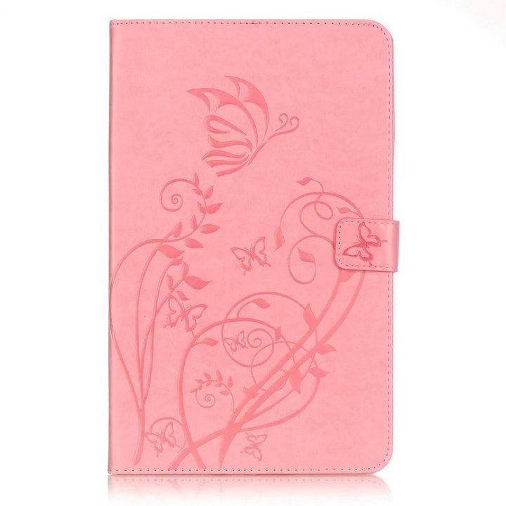 galaxy tab a 10 1 2016 business multicolor case with tree pattern Pink: