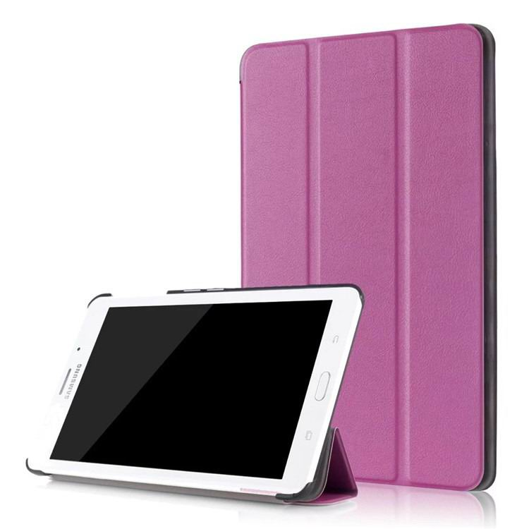 galaxy tab j business multicolor pattern case with stand Purple: