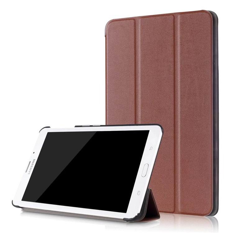 galaxy tab j business multicolor pattern case with stand Dark brown: