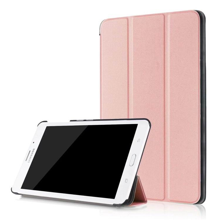 galaxy tab j business multicolor pattern case with stand Rose Gold(gift):