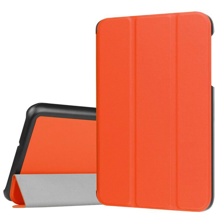 galaxy tab j business multicolor pattern case with stand Orange-red: