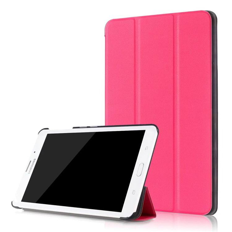 galaxy tab j business multicolor pattern case with stand Rose red: