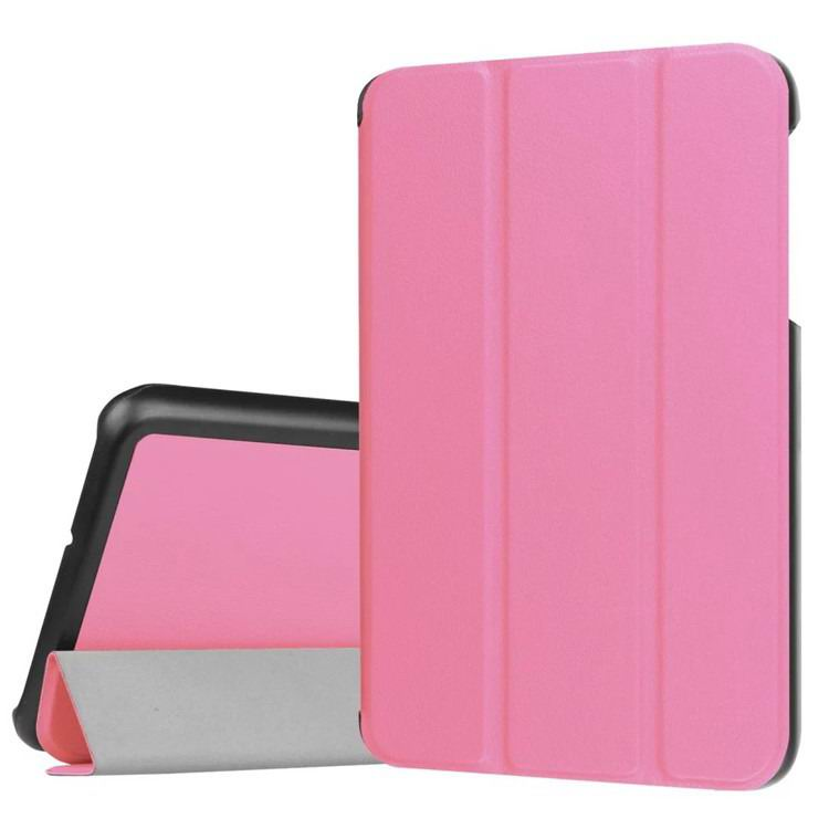 galaxy tab j business multicolor pattern case with stand Pink: