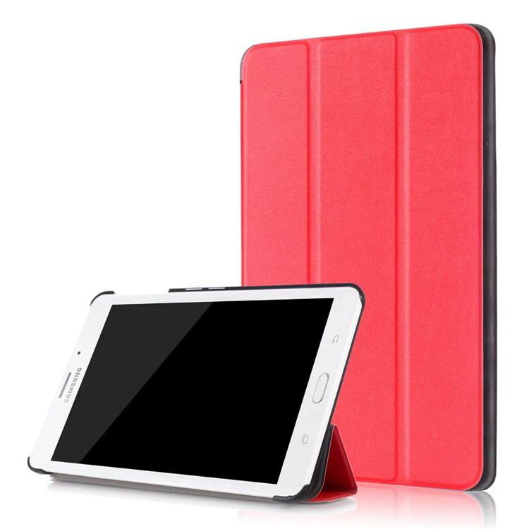 galaxy tab j business multicolor pattern case with stand Red: