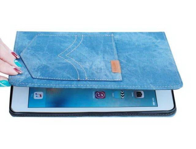 Case of denim with a pocket for  Apple iPad Air 1, iPad Air 2