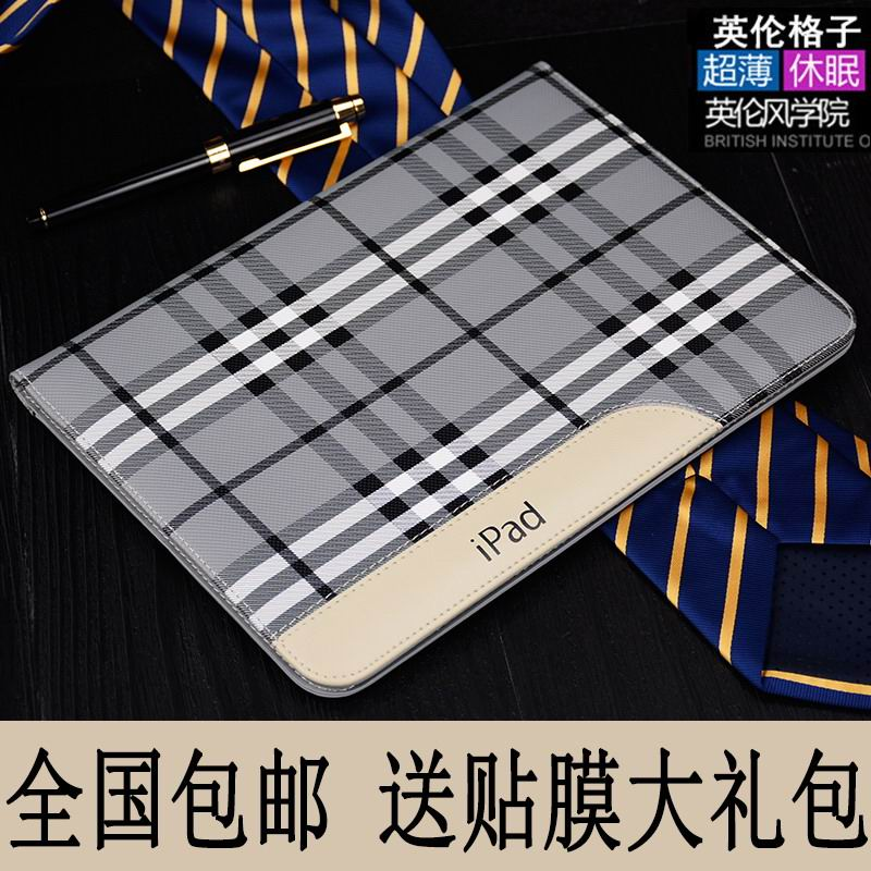 Case of plaid material for Apple iPad Mini 1, iPad Mini 2, iPad Mini 3, iPad Mini 4, Apple iPad Air 1, iPad Air 2, Apple iPad 2, iPad 3, iPad 4, Apple iPad Pro 9.7 inch