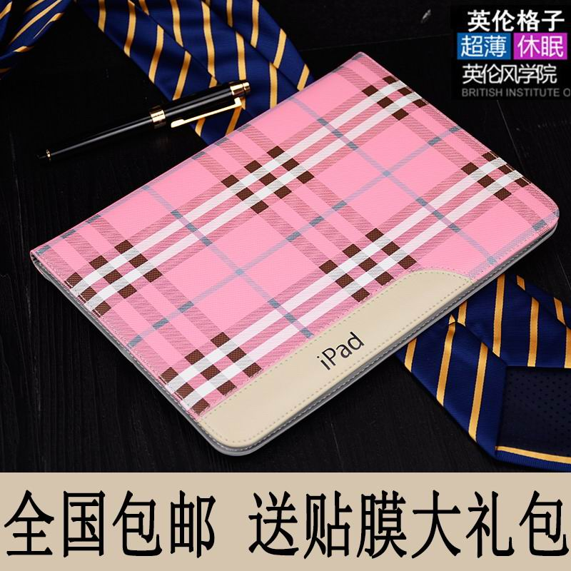 case of plaid material for apple ipad 00