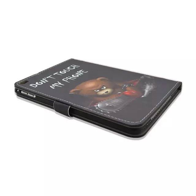Case with a bear picture and Don`t touch my phone text for Apple iPad Mini 4