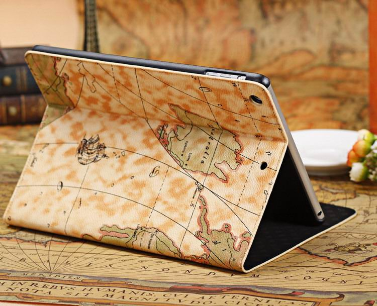 case with a world map picture for apple ipad 0