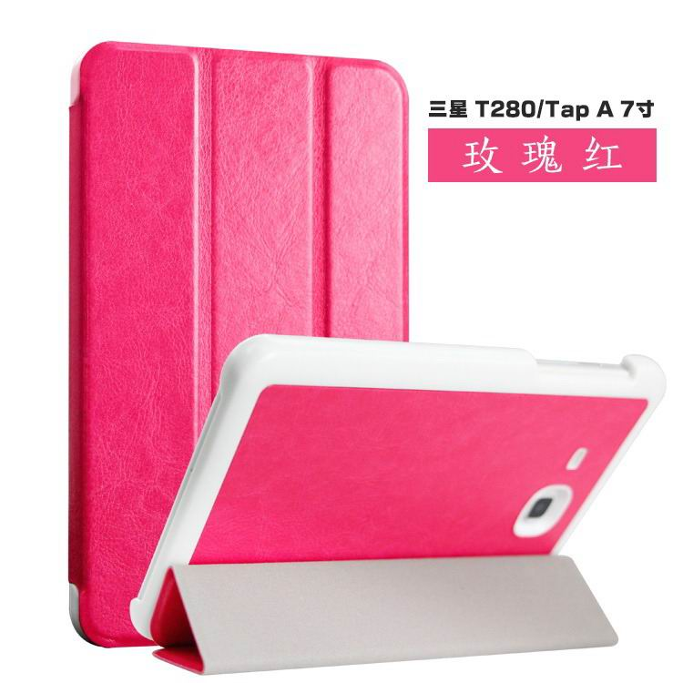 galaxy tab a 7 0 2016 case with business style and colored cover Rose red:
