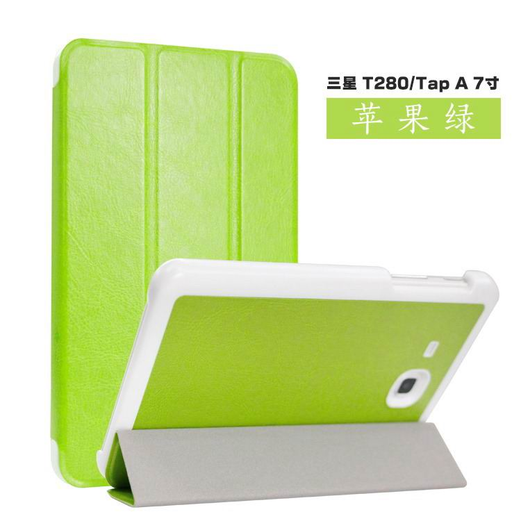 galaxy tab a 7 0 2016 case with business style and colored cover Apple green: