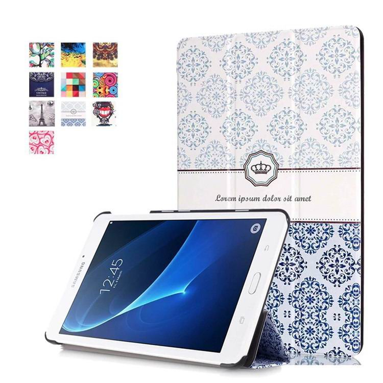 galaxy tab a 7 0 2016 case with business style and multi painting illustrations Classic crown: