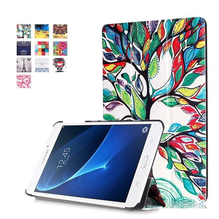 galaxy tab a 7 0 2016 case with business style and multi painting illustrations Happy tree: