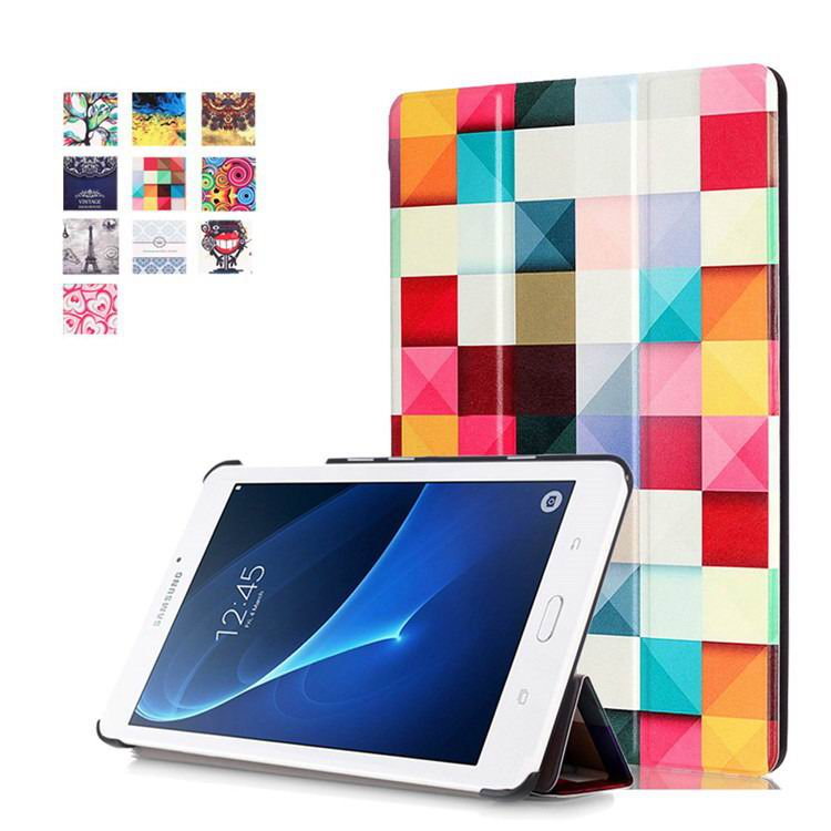 galaxy tab a 7 0 2016 case with business style and multi painting illustrations Magic cube: