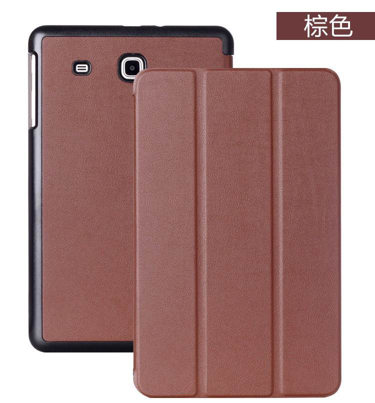 galaxy tab e 8 0 case with business style and multicolor pattern brown: