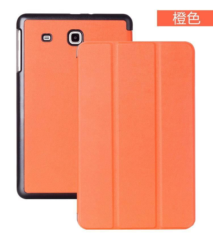 galaxy tab e 8 0 case with business style and multicolor pattern orange: