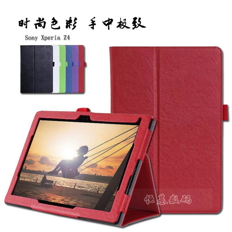 xperia z4 tablet case with business style pockets wrist loop and stand712x
