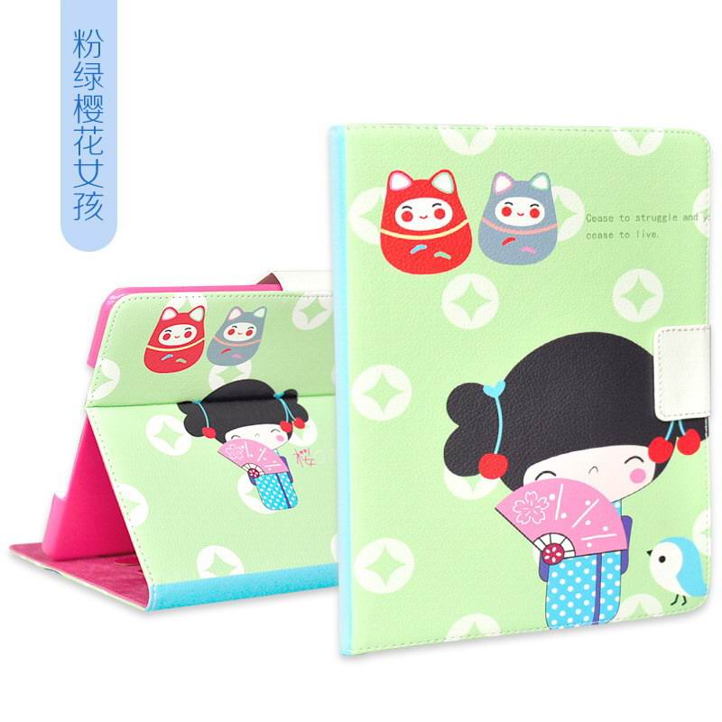 case with cartoon girl for apple ipad 00