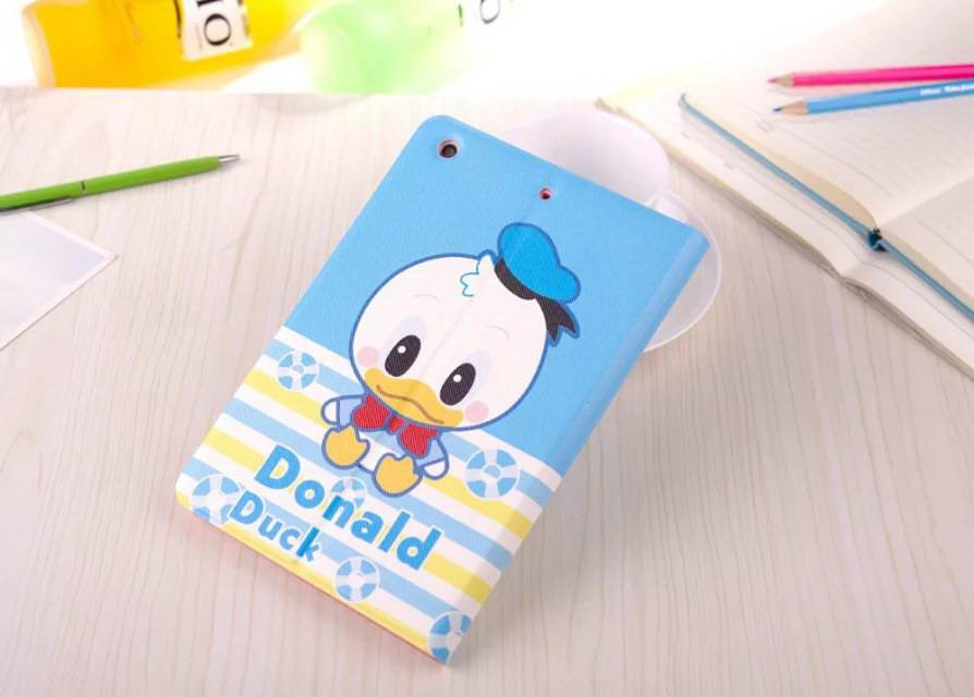 Case with cute cartoon Donald Duck for Apple iPad Mini 1, iPad Mini 2, iPad Mini 3, iPad Mini 4