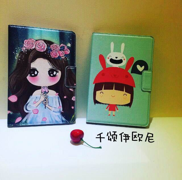 Case with cute girl picture for Apple iPad Mini 1, iPad Mini 2, iPad Mini 3, iPad Mini 4, Apple iPad 2, iPad 3, iPad 4, Apple iPad Air 1, iPad Air 2