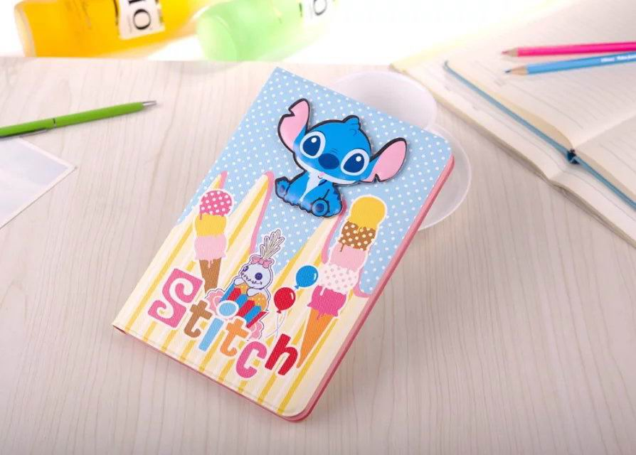 Case with cute picture of cartoon Stitch for Apple iPad Mini 1, iPad Mini 2, iPad Mini 3
