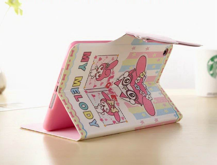 Case with cute pictures of cartoon My Melody for  Apple iPad Mini 1, iPad Mini 2, iPad Mini 3, iPad Mini 4