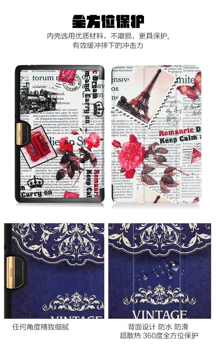Case with different illustrations and stand for tablet Acer Iconia Tab 10 A3-A40