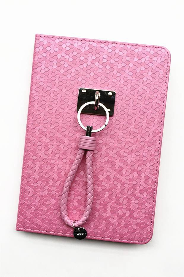 case with fish skin pattern business style and wrist loop 2 00
