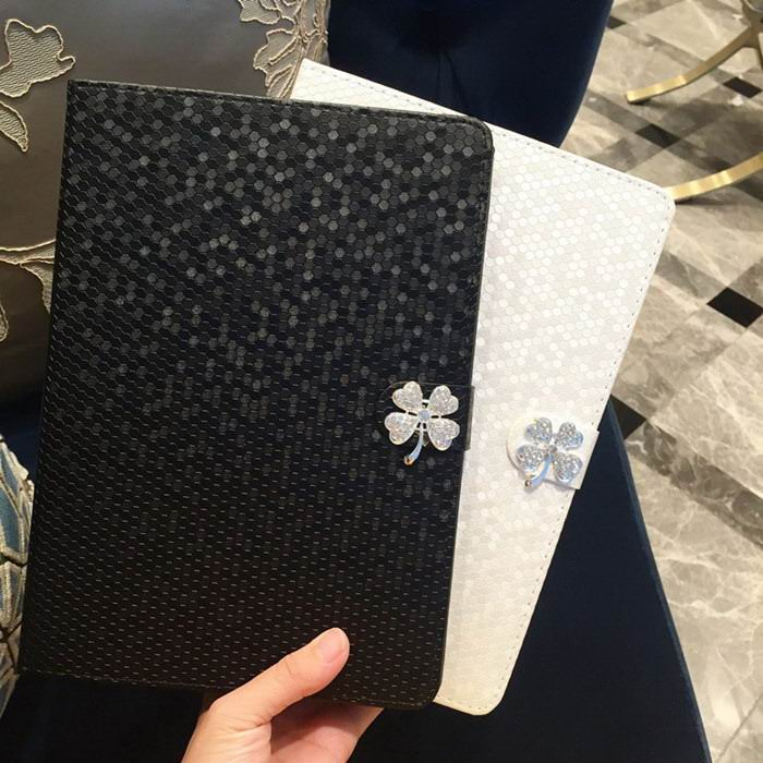 Case with flower & rhinestones for Apple iPad Pro 9.7 inch, Apple iPad Air 1, iPad Air 2, Apple iPad Mini 1, iPad Mini 2, iPad Mini 3, iPad Mini 4, Apple iPad 2, iPad 3, iPad 4