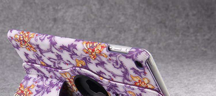 Case with flower pattern for Apple iPad Mini 1, iPad Mini 2, iPad Mini 3, iPad Mini 4