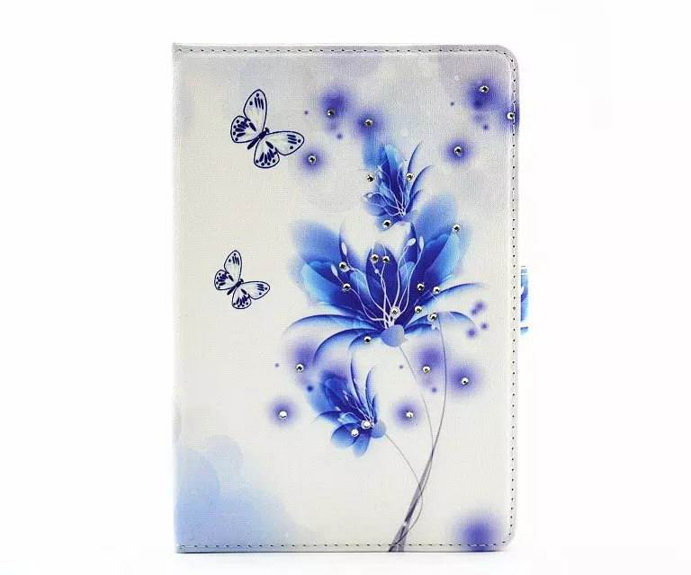 case with flowers or girl and rhinestones for apple ipad 00